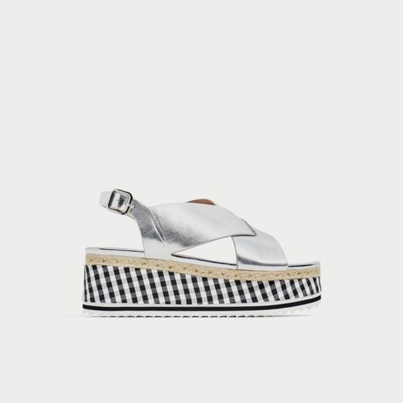 Zara Shoes - NIB Zara platform sandals size 9